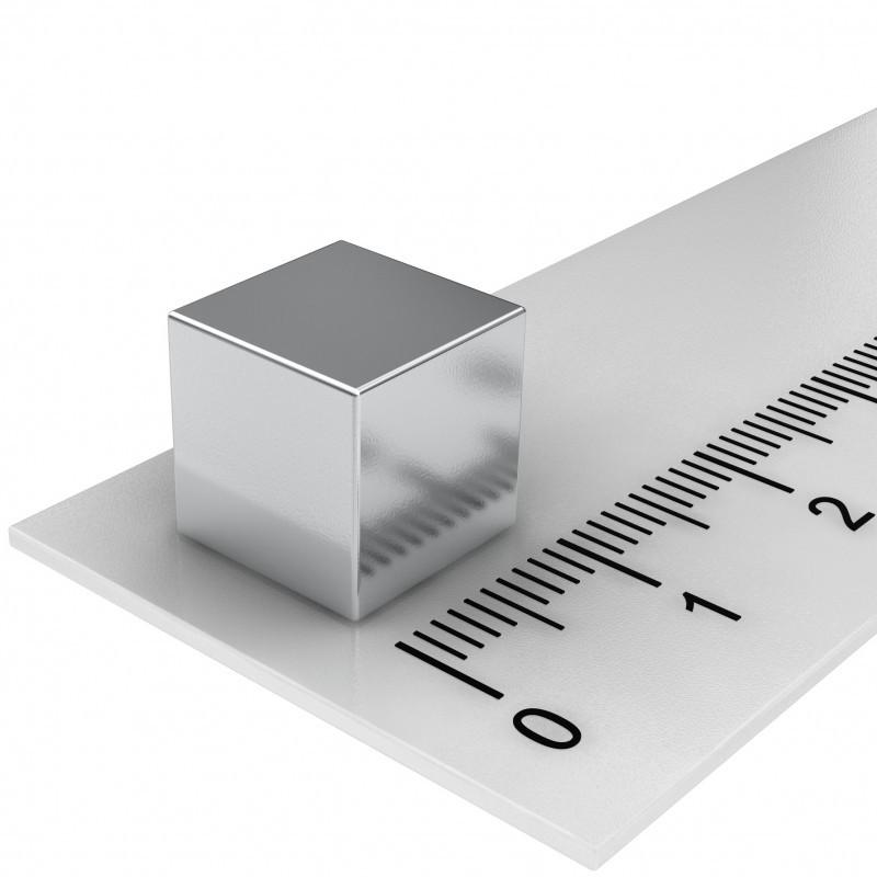 10er Pack Hochleistungs-Würfelmagnete-silber 10x10x10mm